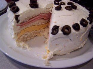 Bologna Cake Appetizer Recipe