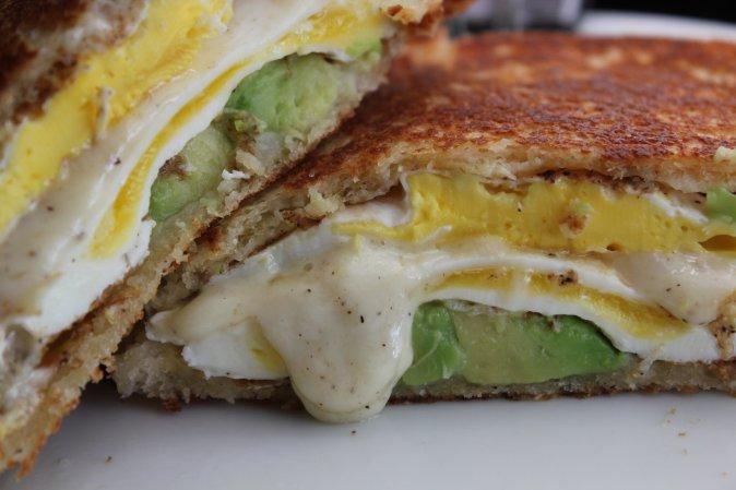 avocado egg cheese sandwich