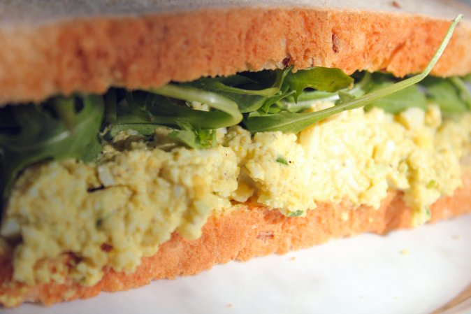 curry egg salad sandwich