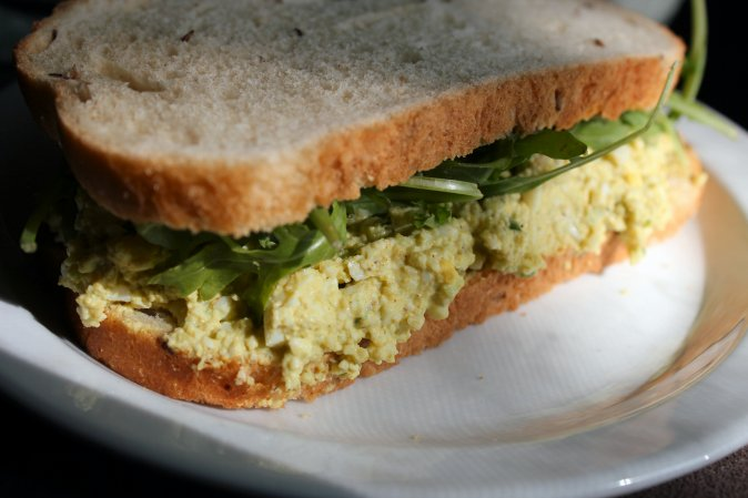 curry egg salad sanwich