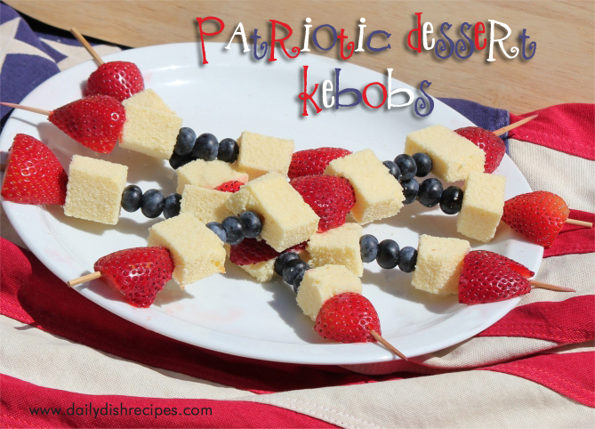 Fourth of July Recipes: Fruit and Cake Kebobs