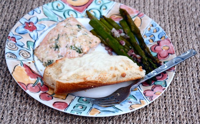 Olive Oil & Sea Salt Roasted Salmon and Asparagus