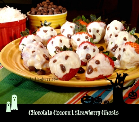 Halloween Recipes: White Chocolate & Coconut Dipped Strawberry Ghosts