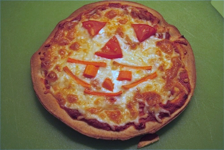 Spooky Kid Pizzas