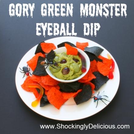 Gory Green Monster Eyeball Dip