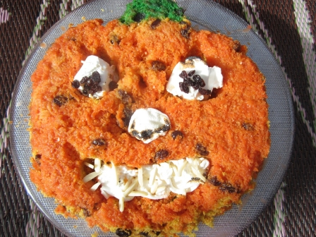 Halloween Recipes: Jack O' Lantern Carrot Cake