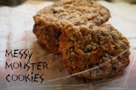 Halloween Recipes: Messy Monster Cookies
