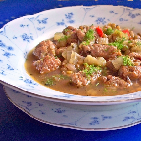 Sausage, Lentil and Fennel Stew