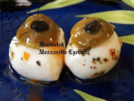 Marinated Mozzarella Eyeballs