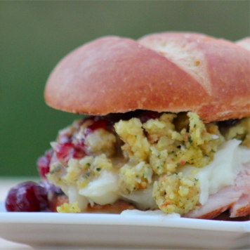 Ultimate Thanksgiving Leftovers sandwich