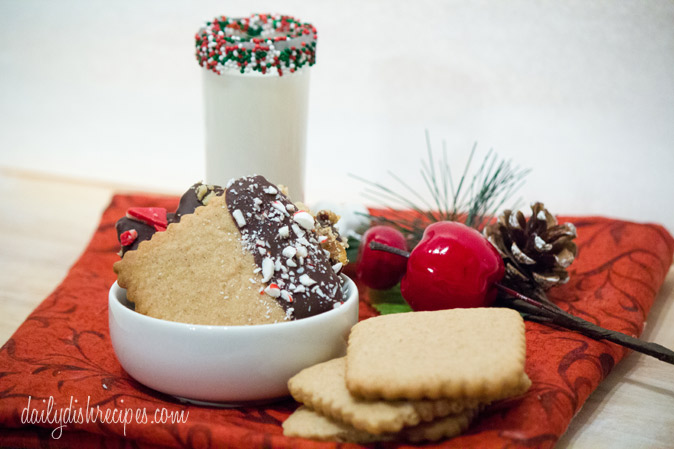 Chocolate Dipped Spice Cookies