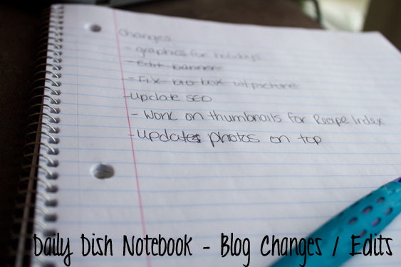 Blog Organization - The Notebook 2