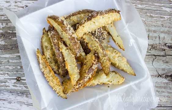 Garlic Parmesan Oregano Oven Fries