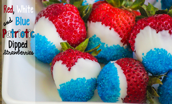 Red White Blue Patriotic Dipped Strawberries