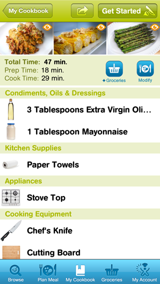 Cooking Planit Shopping List