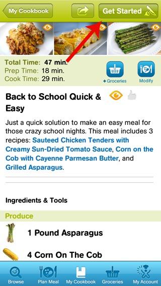 CookingPlanit Screen Shot 1