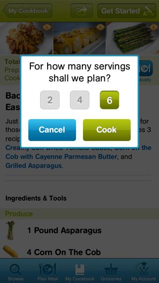 CookingPlanit Screen Shot 3