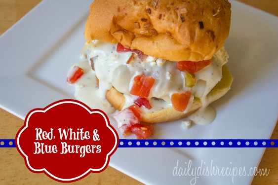Red White and Blue Burgers for Labor Day