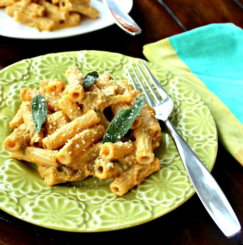 Rigatoni with Pumpkin Ricotta Sauce