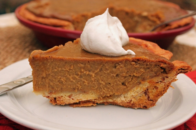 Spiced Pumpkin Pie with Cinnamon Roll Crust