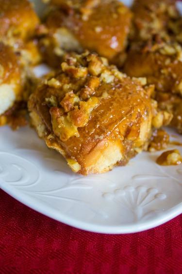 Caramel Nut Pumpkin Sticky Rolls