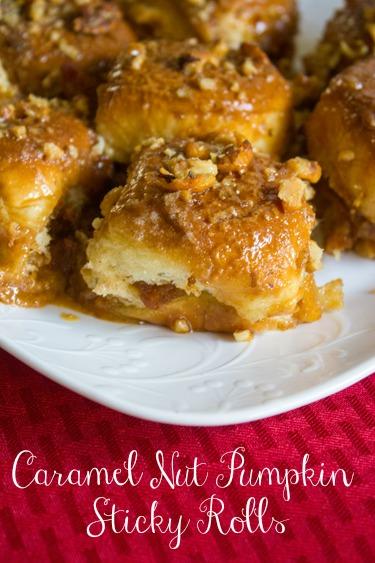 Caramel Nut Pumpkin Sticky Rolls with King's Hawaiian® Dinner Rolls