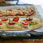 Strawberry Mozzarella Flatbread