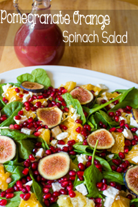 Pomegranate-Orange-Spinach-Salad