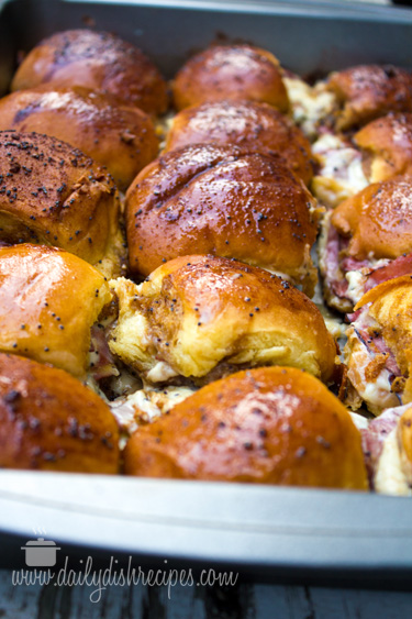 Saucy Roast Beef and Swiss Sliders