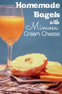 homemade-bagels-mimosa-cream-cheese