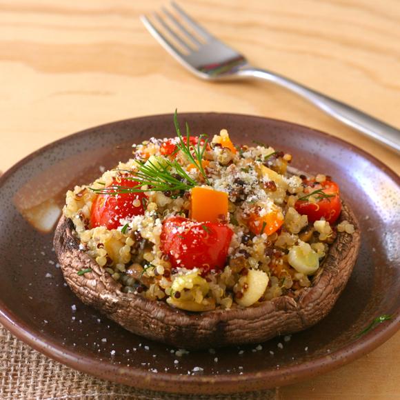 Quinoa-Stuffed-Portobellos
