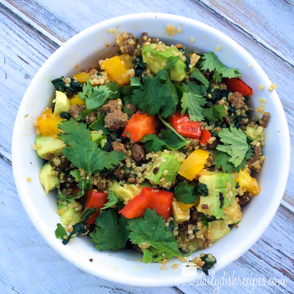 Quinoa Recipes - Quinoa and Turkey Sausage Dinner Bowl