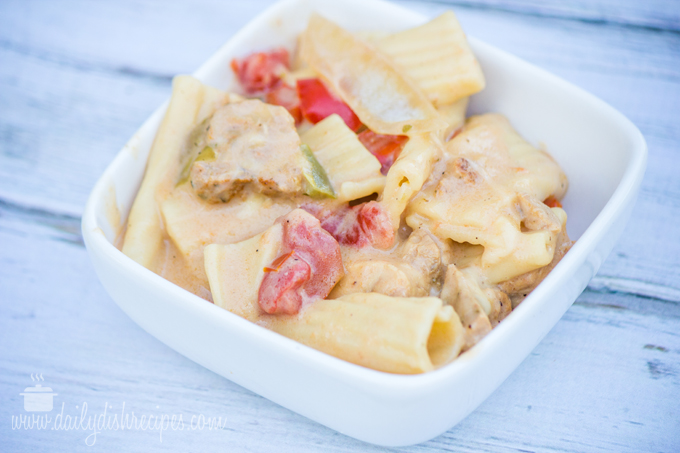 Easy Southwestern Grilled Chicken Fajita Pasta