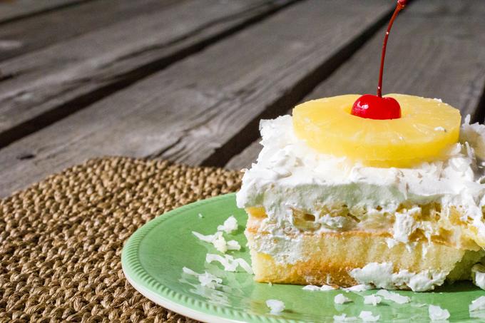 Tropical Pina Colada Pineapple Coconut Poke Cake Recipe