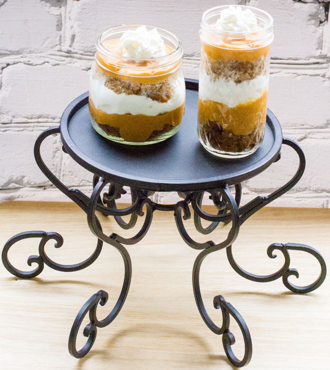 Spiced Pumpkin Gingerbread Trifles & a Ball Canning Jar #Giveaway #holidayrecipes