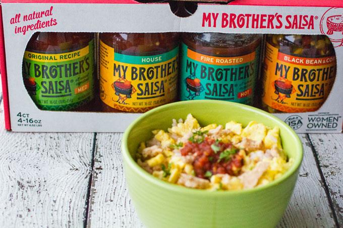 Fire Roasted Salsa, Rice and Egg Breakfast Bowl #MyBrothersSalsa @SamsClub #Ad