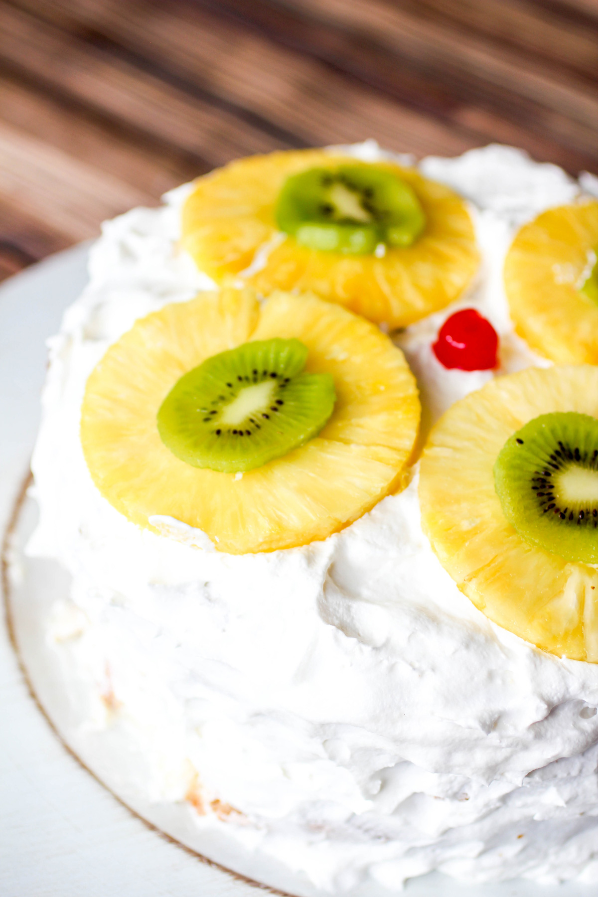 Tropical Layered Poke Cake #SundaySupper