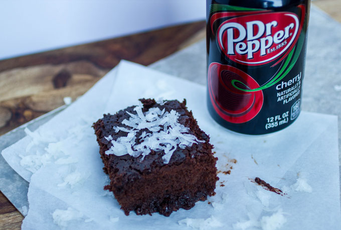 Dr Pepper® Cherry Coconut Brownies