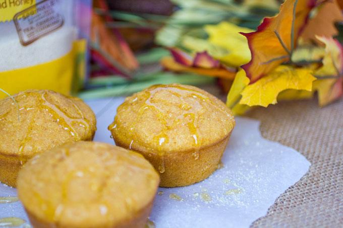 Honey Pumpkin Cornbread Muffins #TLHoneyGranulesCG