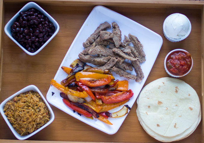 Slow Cooker Steak Fajitas #SundaySupper