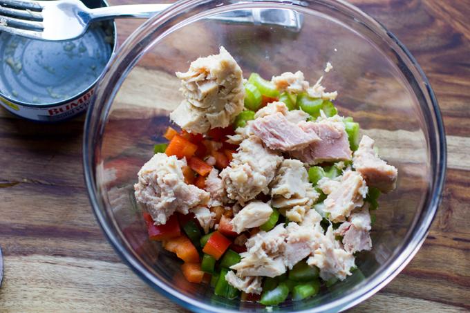 White Albacore Tuna Stuffed Portabella Mushrooms